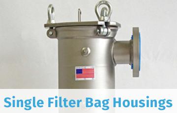 Single Filter Bag Housings